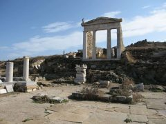 Mykonos, Gammelt Isis-tempel, Delos, Mykonos, Kykladene, de øvrige øyene, Hellas