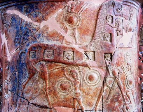 Mykonos, vase, pithoi, Troyan Horse, trojanske hest, Kykladene, Hellas
