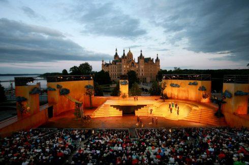 Schwerin, Festspiele, Altstadt, Schweriner Schloss, Nord-Tyskland
