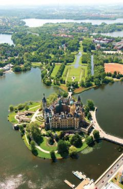 Schwerin, Schweriner Schloss, Slottsparken, Nord-Tyskland, Tyskland