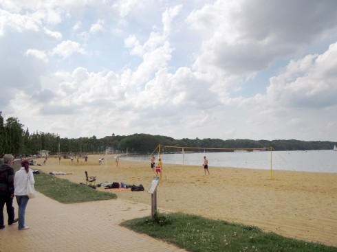 Schwerin, badestrand, Schweriner See, Zippendorf Beach, Nord-Tyskland