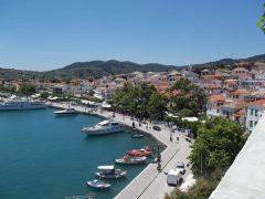 Skopelos, havnepromenaden, Skopelos by, Øyene, Sporadene, Hellas