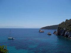 Skopelos, kysten, øyene, Sporadene, Hellas