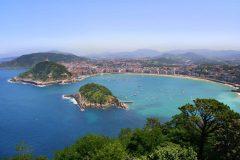 Spania, Bukten ved San Sebastian, Baskerland, Nord-Spania