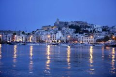 Spania, Ibiza, Ibiza by, Balearene, Middelhavet