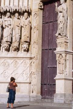 Amiens, vestfasade, Beau Dieu, Cathédrale Notre-Dame, middelalder, gotikken, katedralby, Unescos liste over Verdensarven, Nord-Frankrike