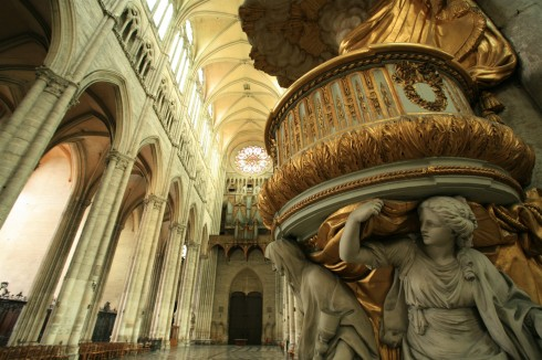 Amiens, Cathédrale Notre-Dame, prekestol, middelalder, barokken, katedralby, Unescos liste over Verdensarven, Nord-Frankrike