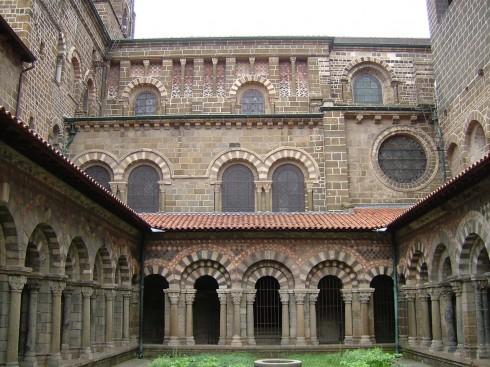 Le Puy en Velay, Notre Dame, klosterhage, Unescos liste over Verdensarven, Massif Central, Sør-Frankrike