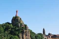 Le Puy en Velay, Cathédrale de Notre-Dame, pilegrimsmål, romansk arkitektur, tidlig middelalder, tidlig kristendom, sort madonna, klosterhage, Unescos liste over Verdensarven, Massif Central, Sør-Frankrike