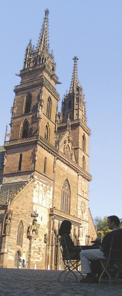 Basel, Münster, Augusta Raurica, Rhinen, romertid, middelalder, kulturseverdigheter, gamlebyen, marktplatz, Sveits
