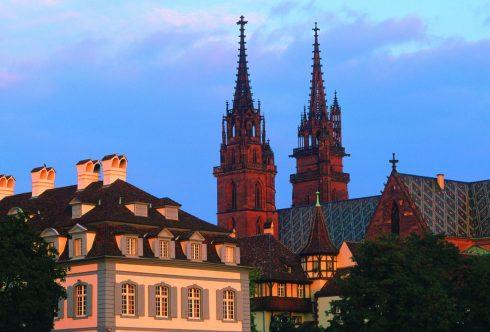 Basel, Münster, Rhinen, romertid, middelalder, kulturseverdigheter, gamlebyen, marktplatz, Sveits