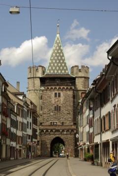 Basel, Spalentor, Rhinen, romertid, middelalder, kulturseverdigheter, gamlebyen, marktplatz, Sveits