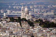 Kirken Sacre Ceour på Montmartre ruver over byen