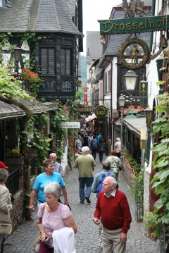 Rüdesheim, Rhinen, Rheintal, romertid, middelalder, Unescos liste over Verdensarven, Vest-Tyskland