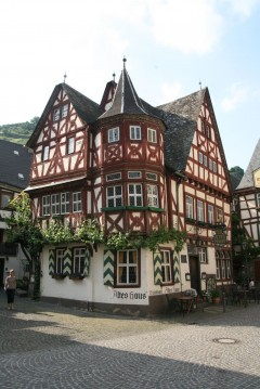 Altes Haus, Bacharach, Rhinen, Rheintal, romertid, middelalder, Unescos liste over Verdensarven, Vest-Tyskland