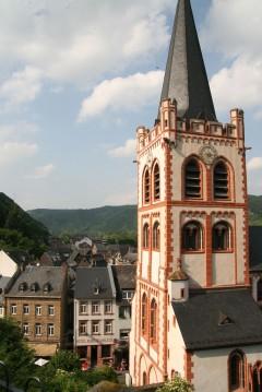 St Peters Kirche, Bacharach, Rhinen, Rheintal, romertid, middelalder, Unescos liste over Verdensarven, Vest-Tyskland