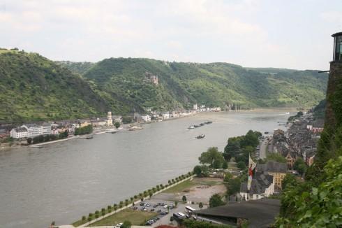 Rhinen, Burg Rheinfels, St Goar, Rheintal, romertid, middelalder, Unescos liste over Verdensarven, Vest-Tyskland