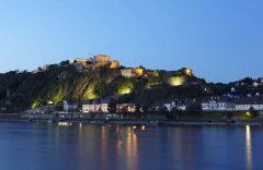 Koblenz, Deutsches Eck, Mosel, Rhinen, Rheintal, romertid, middelalder, Unescos liste over Verdensarven, Vest-Tyskland