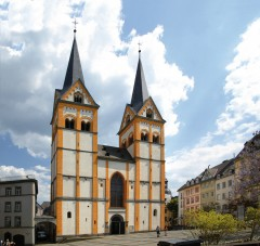Koblenz, Florinskirche, Deutsches Eck, Mosel, Rhinen, Rheintal, romertid, middelalder, Unescos liste over Verdensarven, Vest-Tyskland