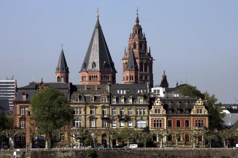 Mainz - Mainz, Gutenberg, Worms, Speyer, Dom St. Martin, Kaiser, Kurfyrster, Moguntiacum, romertid middelalder, renessanse, barokk, Rhinen, Tyskland