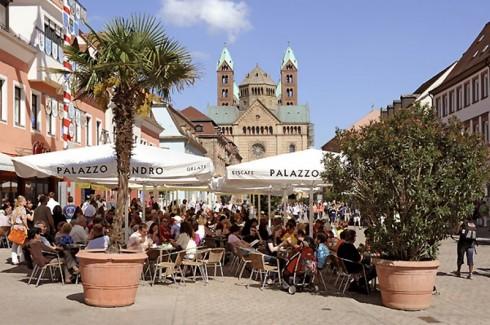 Speyer, Altstadt, Unescos liste over Verdenarven, Altpörtel, Rhinen, Kaiserdom, jødenes Shphira, middelalder, Vest-Tyskland