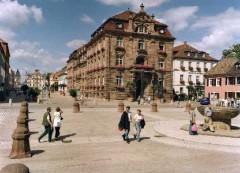 Speyer, Altstadt, Domhof, Biergarten, Unescos liste over Verdenarven, romertid, Altpörtel, Rhinen, Kaiserdom, jødenes Shphira, middelalder, Vest-Tyskland