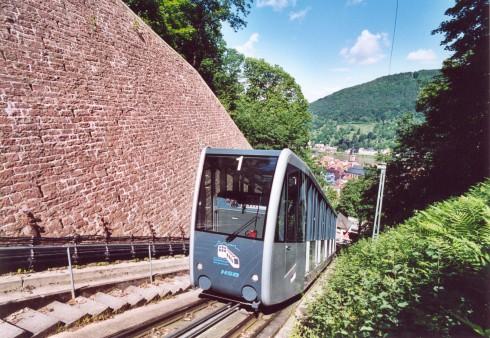 Heidelberg, Bergbahnen, Altstadt, Marktplatz, Alte Brücke, Neckar, Schloss Heidelberg, Unescos liste over Verdensarven, Baden-Württemberg, Sør-Tyskland