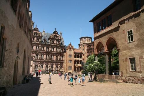 Heidelberg, Schloss, Altstadt, Marktplatz, Alte Brücke, Neckar, Schloss Heidelberg, Unescos liste over Verdensarven, Baden-Württemberg, Sør-Tyskland