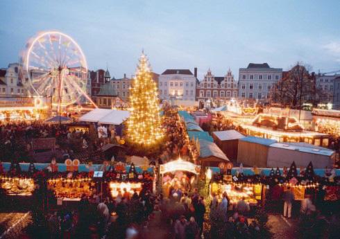 Wismar, julemarked, Weihnachtsmarkt, Unescos liste over Verdensarven, Unesco, Tyskland