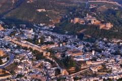 Granada, Alhambra, Generalife, Albaicín, Bib-Rambla, Plaza Nueva, Capilla Real, Santa Ana, San Nicholas, San Miguel de Bajo, Unescos liste over Verdensarven, Andalucia, Spania