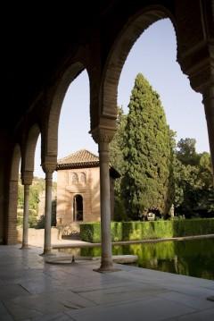 Granada, Palacio del Partal, Alhambra, Generalife, Barrio del Albaicín, Bib-Rambla, Plaza Nueva, Capilla Real, Santa Ana, San Nicholas, San Miguel de Bajo, Unescos liste over Verdensarven, Andalucia, Spania