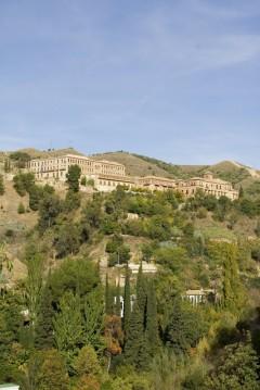 Granada, Abadía del Sacromonte, Alhambra, Generalife, Barrio del Albaicín, Bib-Rambla, Plaza Nueva, Capilla Real, Santa Ana, San Nicholas, San Miguel de Bajo, Unescos liste over Verdensarven, Andalucia, Spania