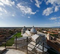 Campo dei Miracoli, Pisa, pisansk romansk, arkitektur, middelalder, renessanse, Arno, Campo dei Miracoli, katedral, baptisteria, kampanile, Unescos liste over Verdensarven, historisk bydel, museer, gamleby, etruskerne, Toscana, Midt-Italia, Italia
