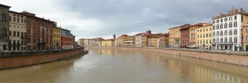 Pisa, pisansk romansk, arkitektur, middelalder, renessanse, Arno, Campo dei Miracoli, katedral, baptisteria, kampanile, Unescos liste over Verdensarven, historisk bydel, museer, gamleby, Toscana, Midt-Italia, Italia