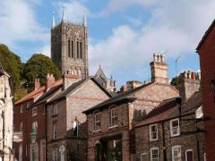 Lincoln, High Bridge, Lincoln Cathedral, Minster, England, Brayford Pool, romertid, middelalder, Castle Hill, Magna Carta, Steep Hill, Bailgate, early british gothic