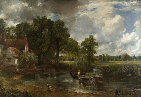 The Hay Wain, malt i 1821,- et av John Constable mest kjente bilder. The National Gallery, London