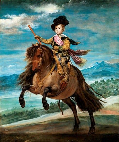 """""""Balthasar Carlos"""" - Kong Filip den IV.s sønn, malt år 1633-35, Madrid."""