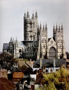 Canterbury, Cathedral, West gate, Christ Church Gate, Minster, Thomas Beckett, England, River Stour, The Old Weavers House, romertid, middelalder, early british gothic, Storbritannia