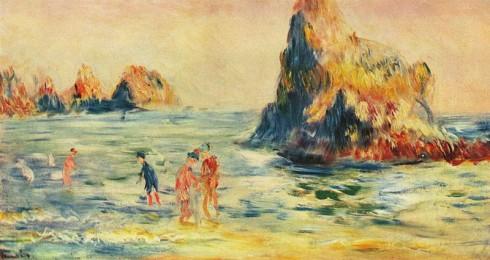 Klipper ved Guernsey, 1883. Pierre Auguste Renoir. Tate gallery, London.