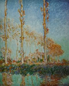 """Høst - popler ved elven Epte"", Claude Monet 1891"