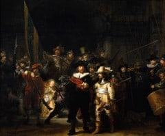 Rembrandts kanskje mest berømte maleri, det såkalte Nattvakten fra år 1642
