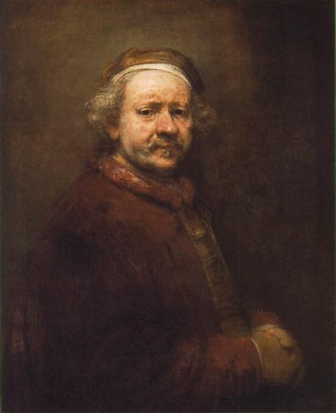 Selvportrett av Rembrandt år 1669