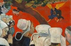 """""""Åpenbaringen etter prekenen"""", malt i år 1888 mens han oppholdt seg i Bretagne"""