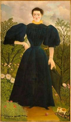 Portrett av Madam M. 1895-97. Henri Rousseau