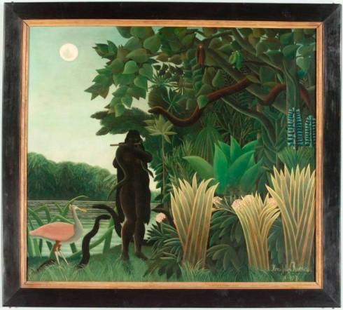 """""""Slangetemmeren"""" Henri Rousseau, 1907."""