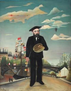 """""""Meg selv. Portrett. Landskap."""" Henri Rousseau, 1890. Praha."""