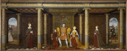 """Henrik den VIII. og hans familie"" fra år 1545"