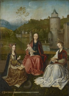 """The Virgin and Child with Saints Catherine and Barbara"". The master of Hoogstraten, tidlig 1500-tallet."