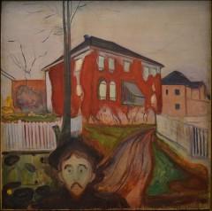 """""""Rød villvin"""" malt av Edvard Munch 1898 - 1900."""