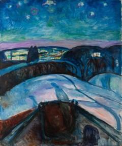 """""""Stjernenatt"""" av Edvard Munch 1922-24"""